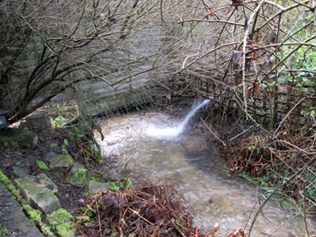 Sewage being pumped into the Hughenden Stream