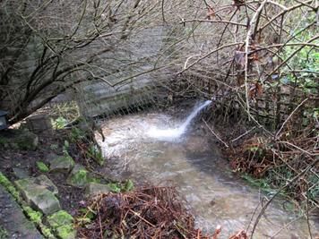 Sewage being pumped into the Hughenden Stream